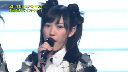 渡辺麻友 第53回輝く! 日本レコード大賞 AKB48「フライング・ゲット」大賞受賞12