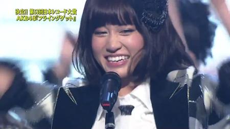 前田敦子 第53回輝く! 日本レコード大賞 AKB48「フライング・ゲット」大賞受賞15