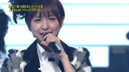 篠田真理子 第53回輝く! 日本レコード大賞 AKB48「フライング・ゲット」大賞受賞20