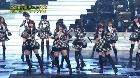 秋元 佐藤亜美菜 河西 第53回輝く! 日本レコード大賞 AKB48「フライング・ゲット」大賞受賞21