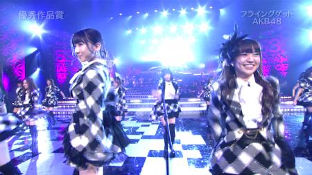 柏木 前田 大島  日本レコード大賞受賞前のAKB48のパフォーマンス「フライング・ゲット」19