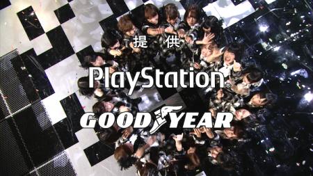 日本レコード大賞受賞前のAKB48のパフォーマンス「フライング・ゲット」円陣2
