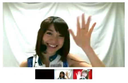 「AKB48紅白対抗歌合戦 Google+特典 ハングアウト反省会」より 大島優子さん