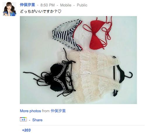 仲俣汐里さんの google+より