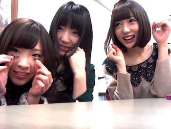 松井咲子さんと野中美郷さんと岩佐美咲さん  師匠、みちゃ、わさみん