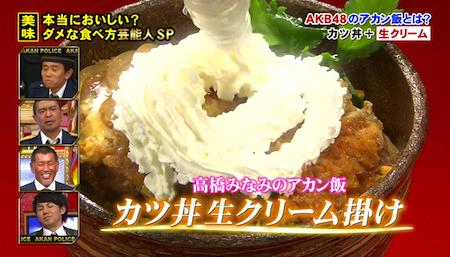 たかみなのカツ丼生クリーム1