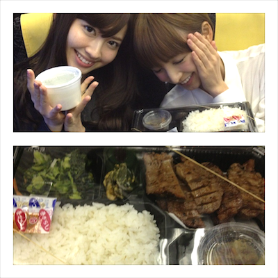 篠田真理子さんのぐぐたす 新幹線でタンお弁当になりました( *`ω´)八(бвб)にゎろめ〜