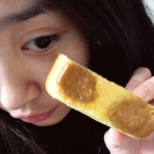 ちなみに塩キャラメルパウンドケーキ! 味は美味しかった(^q^)