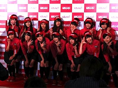 NMB48 ラウンドワンスタジアム千日前 オープニング記念セレモニーに参加