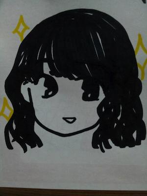 石田晴香 画像は今日の自画像(^O^)