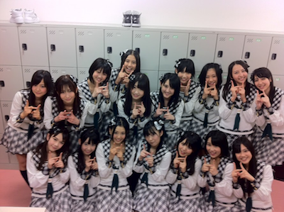HKT48 チームH「手をつなぎながら」公演終演直後^^;
