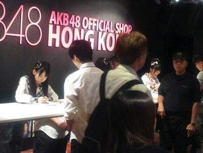 今日は、さっしーさんとはるっぴとサイン会が香港でありました☆